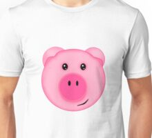 Cute Pink Farm Pig Unisex T-Shirt