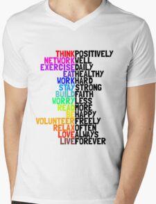 Life in Bright Colour Mens V-Neck T-Shirt