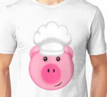 Pink Pig Chef Unisex T-Shirt