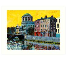 Four Courts from East, Dublin, Ireland Art Print
