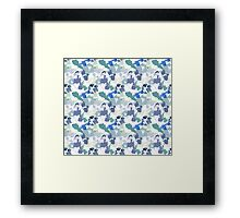 Blue Tie-Dye Pattern Framed Print