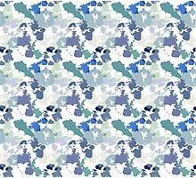 Blue Tie-Dye Pattern Photographic Print