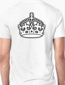 CROWN, British Crown UK, Her Majesty the Queen; white T-Shirt