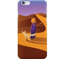 The little prince in the desert with fennec fox iPhone Case/Skin