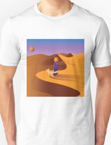 The little prince in the desert with fennec fox T-Shirt