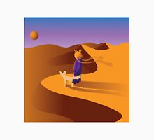 The little prince in the desert with fennec fox Unisex T-Shirt