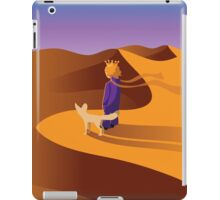 The little prince in the desert with fennec fox iPad Case/Skin