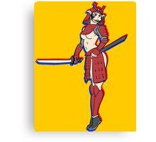 pin up samurai Canvas Print