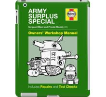 Haynes Manual - Army Surplus special - T-shirt iPad Case/Skin