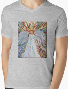 Acrylic Painting, Colorful Angel  Mens V-Neck T-Shirt