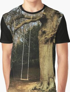 Vintage Style Tree Swing Graphic T-Shirt