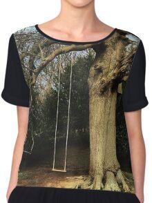 Vintage Style Tree Swing Chiffon Top