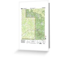 USGS TOPO Map Alabama AL Double Springs 303705 2000 24000 Greeting Card