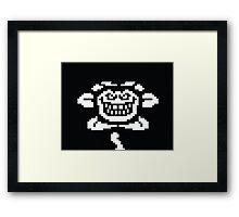 Undertale Flowey Evil Homicide Framed Print