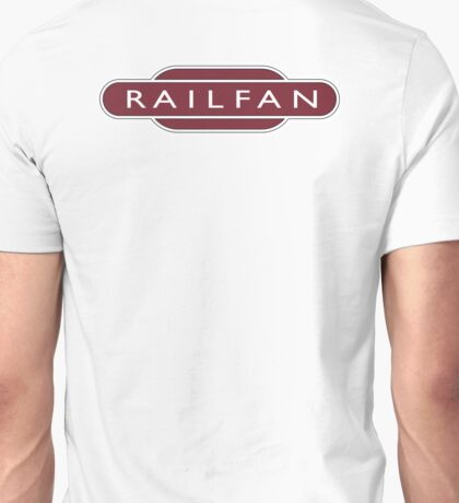 RAILFAN, RAIL, TRAINSPOTTER, enthusiast, Railway, Train, Train spotter, BRITISH RAILWAYS, SIGN Unisex T-Shirt