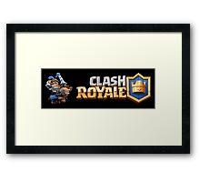 Clash Royal - Blue King Framed Print