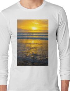 yellow sunset at beal beach Long Sleeve T-Shirt