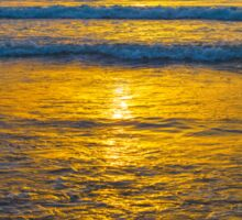 yellow sunset at beal beach Sticker