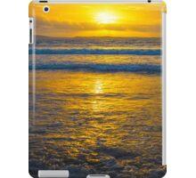 yellow sunset at beal beach iPad Case/Skin