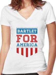 Bartlet Women's Fitted V-Neck T-Shirt