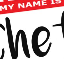 Hello My Name is Chef Decal Sticker