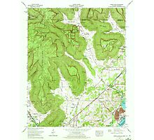 USGS TOPO Map Alabama AL Doran Cove 303698 1967 24000 Photographic Print
