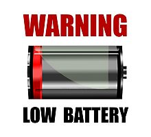 Low Battery Photographic Print