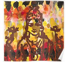 Lakshmi Goddess of Abundance yoga inspired art Poster