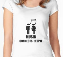 Music Connects People Women's Fitted Scoop T-Shirt