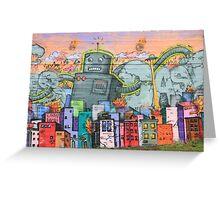 Robot Wars Graffiti - genuine urban art Greeting Card
