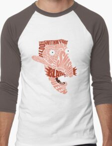 Nigel Thornberry Typography Men's Baseball ¾ T-Shirt