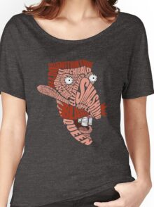 Nigel Thornberry Typography Women's Relaxed Fit T-Shirt