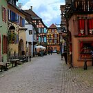 The colorful Riquewihr by annalisa bianchetti