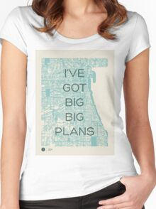I've Got Big Big  Plans // The Front Bottoms Women's Fitted Scoop T-Shirt