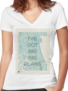 I've Got Big Big  Plans // The Front Bottoms Women's Fitted V-Neck T-Shirt