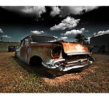 Abandoned 1957 Chevy 210 Photographic Print