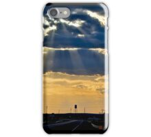 Water Tower Sun Rays iPhone Case/Skin
