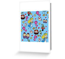 Alice in Wonderland doodles Greeting Card