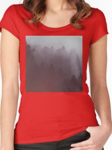 Watercolor Fog Women's Fitted Scoop T-Shirt