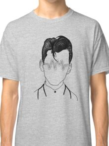 Arctic Monkeys, Alex Turner Graphc Portrait with AM logo - Dotowork  Classic T-Shirt