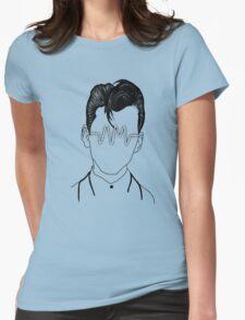 Arctic Monkeys, Alex Turner Graphc Portrait with AM logo - Dotowork  Womens Fitted T-Shirt