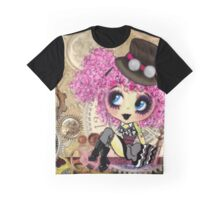 Cute Steampunk Girl cartoon art Graphic T-Shirt