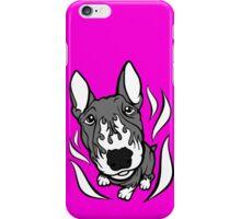 Custom Hot Rod Bull Terrier Black and White iPhone Case/Skin