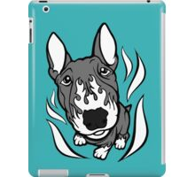Custom Hot Rod Bull Terrier Black and White iPad Case/Skin
