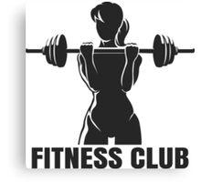 Fitness club emblem Canvas Print