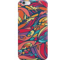 seamless colorful pattern of abstract shapes iPhone Case/Skin