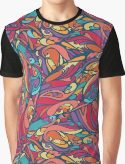 seamless colorful pattern of abstract shapes Graphic T-Shirt