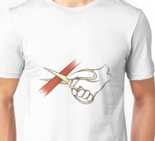 hand with clissors Unisex T-Shirt