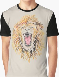 Swirly Lion Graphic T-Shirt