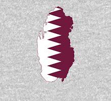 Flag Map of Qatar Unisex T-Shirt
